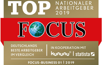 "Focus-Siegel ""Nationaler Top-Arbeitgeber 2019"""